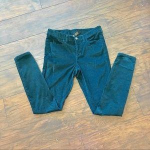 Pants - London corduroy dark teal stretch jeans/pants